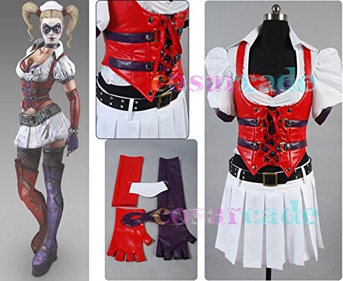 Batman Arkham Asylum Harley Quinn Dress Costume