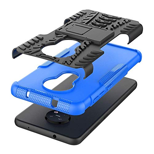 Soezit Kick Stand Cover Back Hard with Stand Back Cover for Nokia 6.2 (Blue) 4