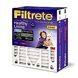 Filtrete 16x25x4(SlimFit), AC Furnace Air Filter, MPR 1550 DP, Healthy Living Ultra Allergen Deep Pleat, 2-Pack