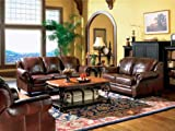 Product review for Coaster Princeton Collection 500661SET 3 PC Living Room Set with Sofa + Loveseat + Recliner in Burgundy