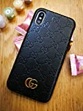 iPhone Xs Max Case, Black Premium PU Luxury Stylish Designer Fashion Leather Cover Case for iPhone Xs Max