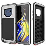 Galaxy Note 9 Metal Case, Heavy Duty Military Grade Rugged Armor Cover [Shock Proof] Hybrid Full Body Hard Aluminum & TPU Design [Non Slip] W/Prime Drop Protection for Samsung Galaxy Note 9 [Silver]