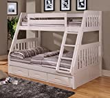 Product review for American Furniture Classics Twin Over Bunk Bed with 3 Drawers, Normal, White