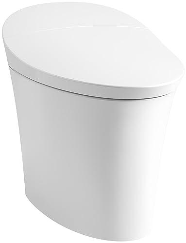KOHLER K-5401-0 Veil Intelligent Skirted Elongated Dual Flush Toilet (1 Piece), White