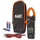 Klein Tools CL110 Digital Clamp Electrical Tester, AC current via clamp and AC/DC voltage, resistance and continuity via test-leads
