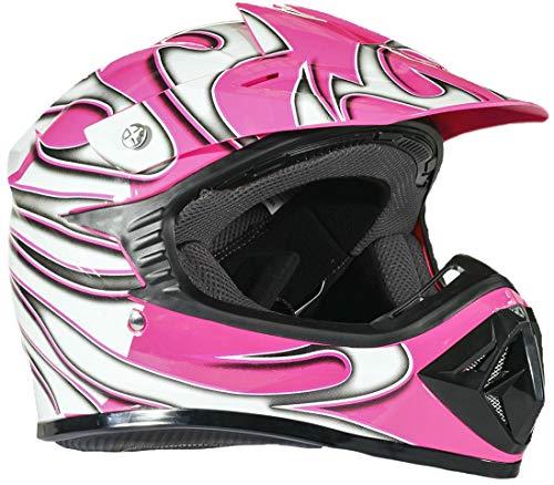 Typhoon Youth Dirt Bike Helmet Off Road ATV Motorcycle MX Kids Motocross - Pink - Large