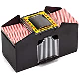 Casino Automatic Card Shuffler for Poker Games(2 Deck, 4 Deck, 6 Deck) (Plastic - 4 Deck)