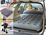 PAVONI Car Inflatable Air Camping Mattress Pad - with Electric Mattress Pump, Towel, Repair Patches & Storage Bag - Bed Mattress for SUVs, RVs & Minivans - Quick Inflation/Deflation - Durable & Comfy
