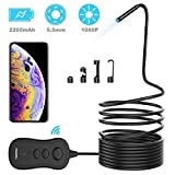 FOXWELL Wireless Endoscope, WiFi Borescope Inspection Camera with 5.5mm Lens, 1080P HD Waterproof Snake Camera for Android, iPhone - 16.5FT