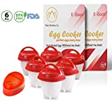 Egg Cooker - hard boiled egg maker without the Shell, Eggies AS SEEN ON TV ready for snack,6 Pack hard boiled egg maker with EGG TIMER.