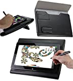Broonel Luxury Leather Graphics Tablet Case with Built-in Ergonomic Stand Compatible with The Tooya X