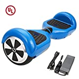 SURFUS 6.5' Waterproof Hoverboard with Buffing Shell UL 2272 Certified Self-Balancing Scooter with LED Lights , Blue