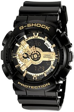 G-Shock Men's X-Large Combi GA110 Black/Gold Watch