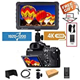 LILLIPUT A7S 7' 1920x1200 IPS Screen Camera Field Monitor 4K HDMI Input Output Video for DSLR Mirrorless Camera Sony A7S II A6500 Panasonic GH5 Canon 5D Mark IV DJI Ronin M Black case Exclusively