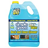 SIMPLE GREEN Oxy Solve Deck and Fence Pressure Washer Cleaner - Removes Stains from Mold, Mildew & Dirt on Composite, Vinyl, PVC and Wood Decking and Fencing - Concentrate 1 Gal.