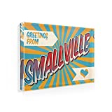 Fridge Magnet Greetings from Smallville, Vintage Postcard - NEONBLOND