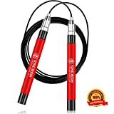 Sonic Boom M2 High Speed Jump Rope - Patent Pending Self-Locking, Screw-Free Design – Weighted, 360 Degree Spin, Silicone Grip with 2 Speed Rope Cables for Crossfit, Home Workout, & More