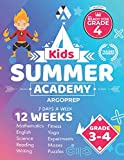 Kids Summer Academy by ArgoPrep - Grades 3-4: 12 Weeks of Math, Reading, Science, Logic, Fitness and Yoga | Online Access Included | Prevent Summer Learning Loss