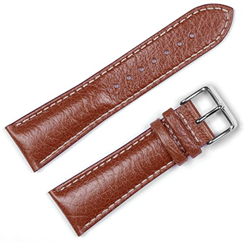 Sport Leather Watchband Havana 19mm Watch band - by deBeer