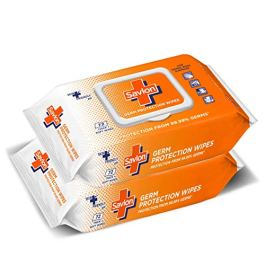 Savlon Germ Protection Wipes – 72s Pack (Pack of 2)