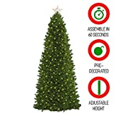 Easy Treezy 7.5ft Prelit Christmas Tree, Easy Setup & Storage in 60 Seconds, Best Realistic Natural Douglas Fir 7.5 Foot Pre-Lit Artificial Tree with LED Lights, Pre-Decorated Holiday Decor MSRP $499