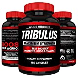 Tribulus Terrestris Extract Powder | Testosterone Booster with Estrogen Blocker | 45% Steroidal Saponins 1500mg | Arazo Nutrition USA