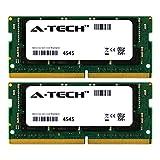 A-Tech 32GB Kit (2 x 16GB) 2400Mhz PC4-19200 260-Pin So-Dimm DDR4 1.2v Non ECC 2rx8 Laptop & Notebook Computer Memory Ram Modules (AT16G2D4S2400ND8N12V)
