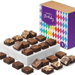 Fairytale Brownies Birthday Magic Morsel 24 Gourmet Chocolate Food Gift Basket – 1.5 Inch x 1.5 Inch Bite-Size Brownies – 24 Pieces – Item CB424 519RS6L 2BeYL