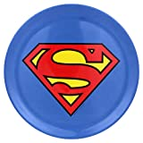 Warner Bros. Superman Logo Plates, Multicolor, Set of 4