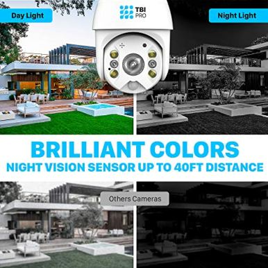 TBI-Pro-Solar-Security-Camera-Outdoor-Wireless-PTZ-WiFi-Home-Spotlight-Camera-System-Rechargeable-Battery-Powered-15600mah-HD-Color-Night-Vision-2-Way-Audio-360-View-Radar-Dual-Detection-Motion