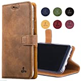 Samsung Galaxy S8 Plus Case, Snakehive Genuine Leather Wallet with Viewing Stand and Card Slots, Flip Cover Gift Boxed and Handmade in Europe by Snakehive for Samsung Galaxy S8 Plus - Brown