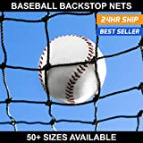 Baseball Backstop Nets - 50+ Sizes Available [Net World Sports]