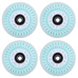 AOWISH 4-Pack Light Up Inline Skate Wheels 72mm Outdoor Indoor LED Flash Ripstik Caster Board Replacement Wheel with Bearings ABEC-9 for Kids Teens and Adults Adjustable Inline Roller Skates (Green)
