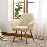 Roundhill Furniture AC151TA Tuchico Contemporary Fabric Accent Chair, Tan