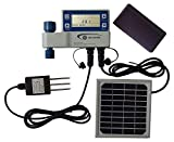 Ancnoble GG-005C-1 Irrigation Controller with Moisture Sensor and Solar Powered, 9.5 by 3 by 7-Inch, White and Blue
