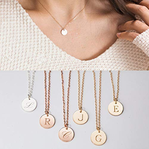 Amazoncom Letter J Necklace Gold C Necklace Letter M