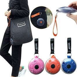 Misaki Roll Up Shopping Bags Portable Reusable Grocery Eco Friendly Lightweight Space Saving Disc Design,Magic Box Mini…