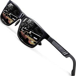9a23f6a0b1221 ATTCL Men s Hot Retro Driving Polarized Sunglasses Al-Mg Metal Frame Ultra  Light