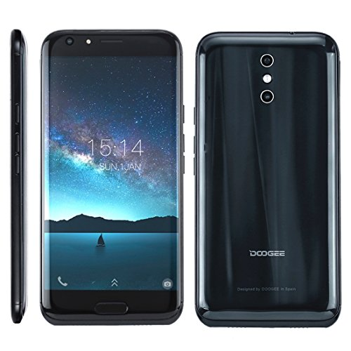 DOOGEE BL5000 4GB+64GB 5050mAh Battery 5.5 inch 8 Side 3D Curves Android 7.0 MTK6750T Octa Core up to 1.5GHz WCDMA & GSM & FDD-LTE (Black)