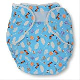 Rearz - Omutsu Bulky Fitted Nighttime Cloth Diaper (Blue - Airplanes) (Medium/Large)