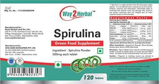 Way2Herbal-Spirulina-Tablets-500mg-tablets-120-count-Boosts-Energy-and-Supports-Immunity