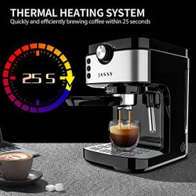 Espresso-Maker-Cappuccino-Machines-20-Bar-with-Powerful-Milk-Frother-Wand-for-Home-Barista-BrewingDouble-Cups-Choices-Thermo-Block-Heating-System1700WBlack