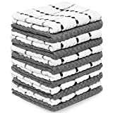 Zeppoli Kitchen Towels, 12 Pack - 100% Soft Cotton -15' x 25' - Dobby Weave -Great for Cooking in Kitchen and Household Cleaning (12-Pack)