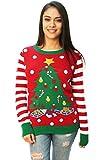 Ugly Christmas Sweater Women's Christmas Tree LED Light Up Sweater Cayenne