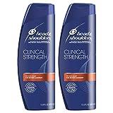 Head and Shoulders Shampoo, Anti Dandruff, Clinical Strength Seborrheic Dermatitis Treatment, 13.5 fl oz, Twin Pack