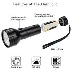2-Pack-UV-Flashlight-Black-Light-FOLKSMATE-51-LED-390-395-nm-Ultraviolet-Blacklight-Urine-Detector-for-Dogs-Pet-Stains-Bed-Bugs-Scorpions-Portable-for-Travel-Black-Light