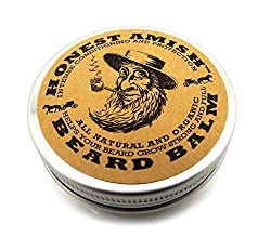 Honest Amish Beard Balm Leave-in Conditioner - Made with only Natural and Organic Ingredients - 2 Ounce Tin  Image