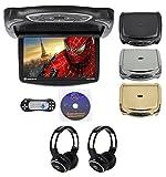 Rockville RVD14BGB Black/Grey/Tan 14' Flip Down Car DVD Monitor+Games+Headphones