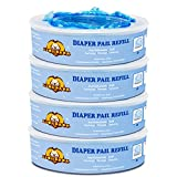 Diaper Pail Refills Compatible with Diaper Genie Pails,1080 Count,4-Pack