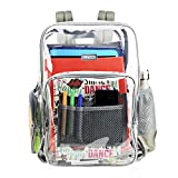 Large Clear Backpack Heavy Duty Durable Military Nylon Clear Bookbags